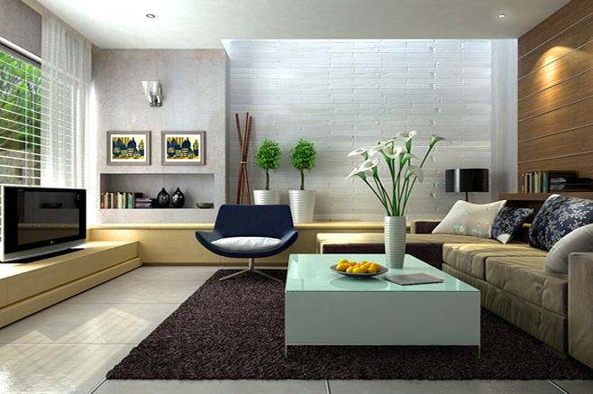 Nội thất phòng khách hiện đại -03
