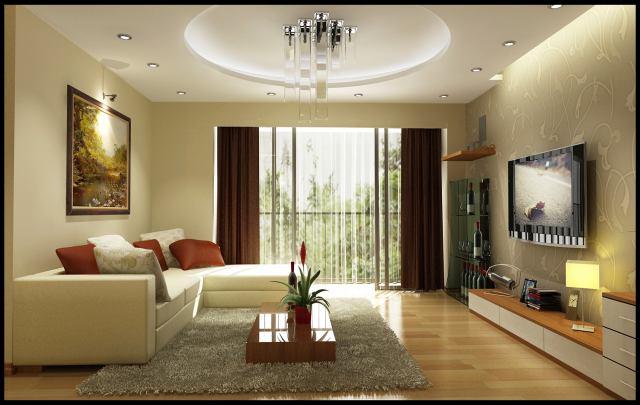 Phòng khách đơn giản mà đẹp