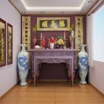 Không gian nội thất phòng thờ