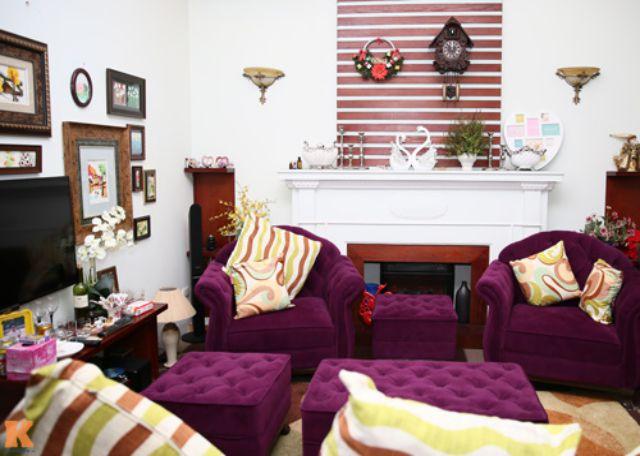 Nội thất phòng khách đẹp như sao