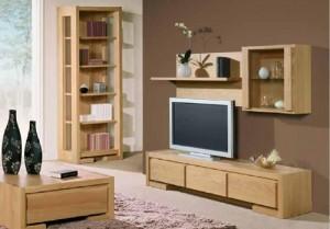 Bài trí kệ bằng gỗ đầy tiện ích cho căn phòng khách-03