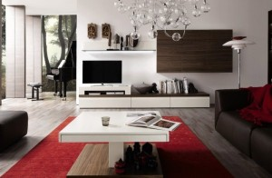 Bài trí kệ bằng gỗ đầy tiện ích cho căn phòng khách-04