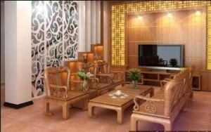 Cách bài trí nội thất đồ gỗ đẹp cho bàn ghếtại phòng khách-02