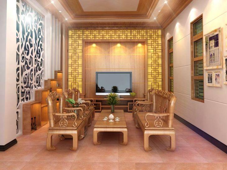 Mẫu 2 - nội thất đồ gỗ đẹp cho phòng khách sang trọng