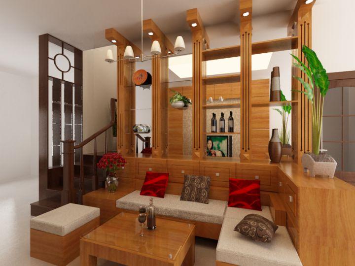 Mẫu 3 - nội thất đồ gỗ đẹp cho phòng khách sang trọng