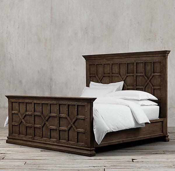 Mẫu thiết kế giường gỗ cổ điển đẹp 4