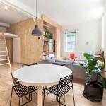 Nội thất gỗ trong căn hộ 75m2