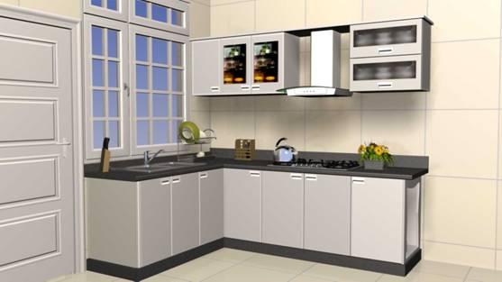 Mẫu 2 - Nội thất gỗ tủ bếp đẹp khang trang