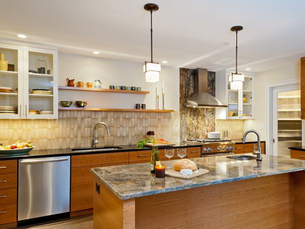 Mẫu 4 - Nội thất gỗ tủ bếp đẹp khang trang