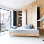 Thiết kế nội thất gỗ cho căn hộ mini