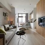Thiết kế nội thất căn hộ ấm cúng với gỗ