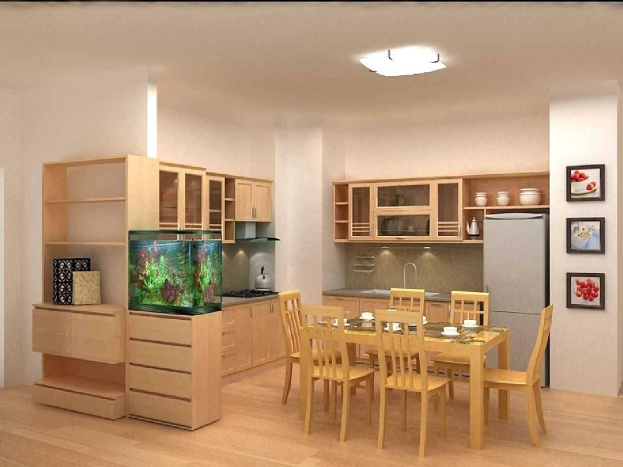 Nội thất gỗ cho phòng bếp tươi sáng hiện đại. 1