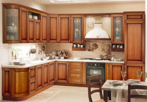Nội thất gỗ cho phòng bếp tươi sáng hiện đại. 2