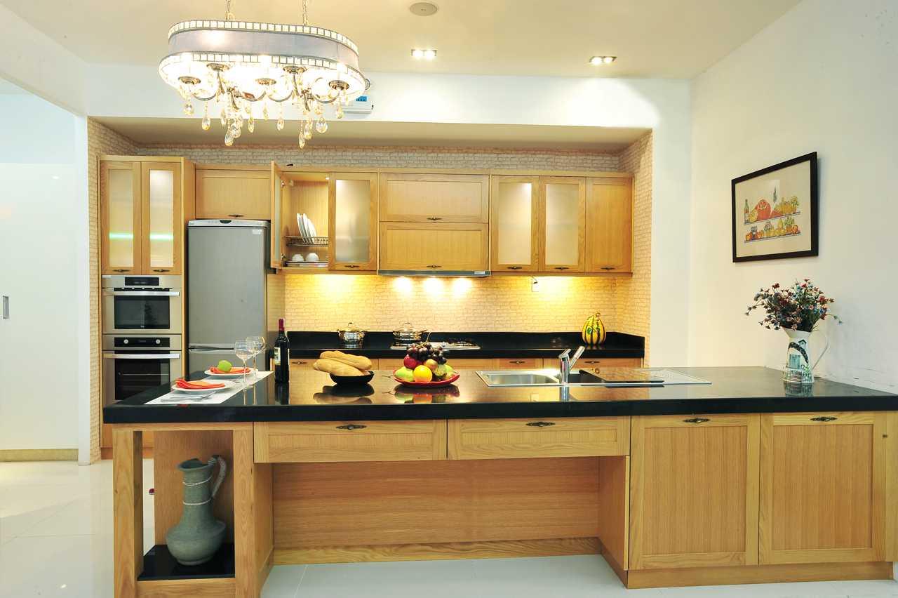 Nội thất gỗ cho phòng bếp tươi sáng hiện đại