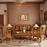Nội thất gỗ cho phòng khách sang trọng