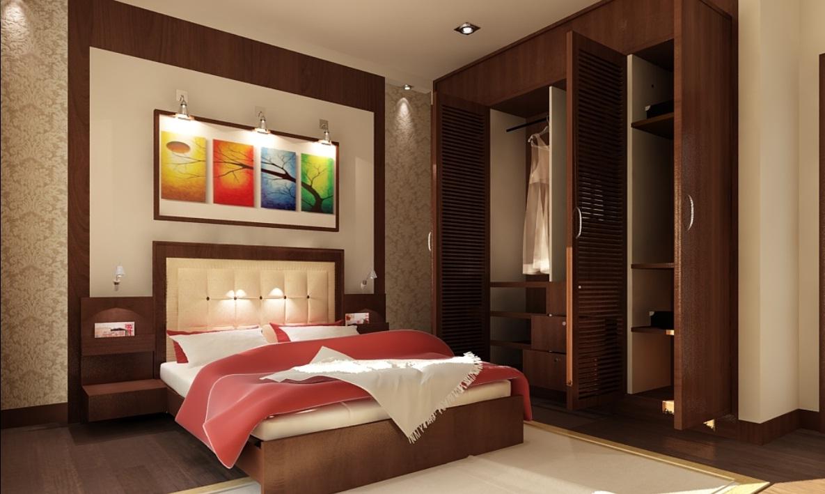 Nội thất gỗ cho phòng ngủ ấm cúng. 1