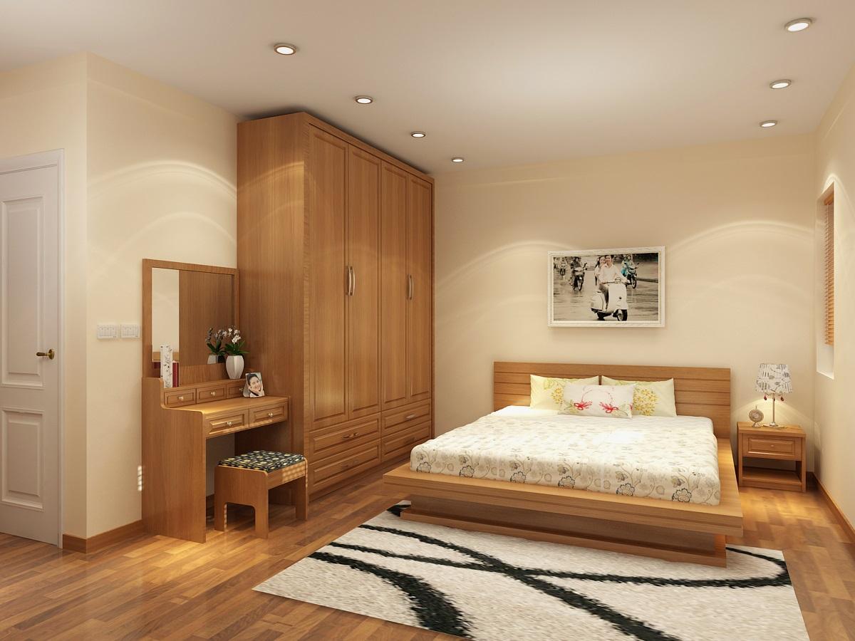 Nội thất gỗ cho phòng ngủ ấm cúng. 4