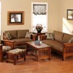 Nội thất phòng khách đẹp với sofa gỗ