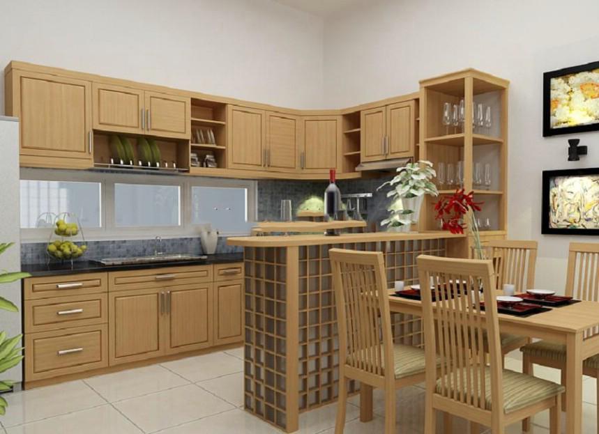 Nội thất đồ gỗ đẹp cho phòng bếp lung linh. 2