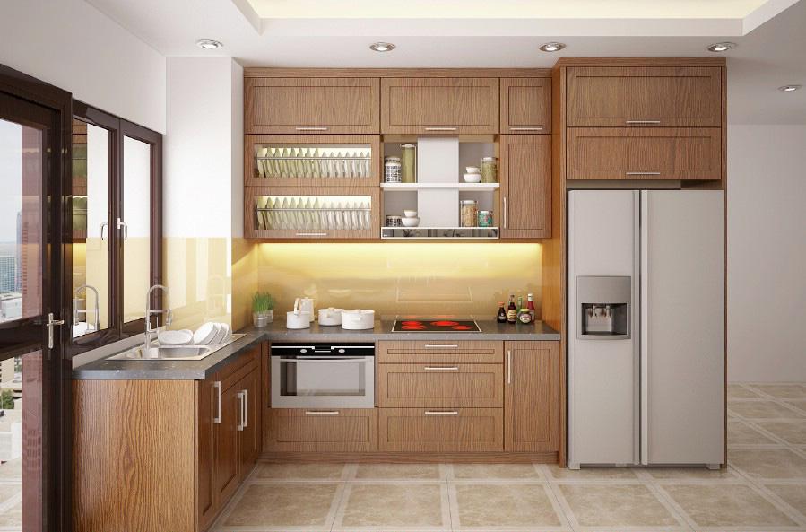 Nội thất đồ gỗ đẹp cho phòng bếp lung linh