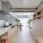 Nội thất gỗ thanh lịch trong nhà của người Nhật