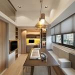 Thi công nội thất gỗ tinh tế trong căn hộ 26m2