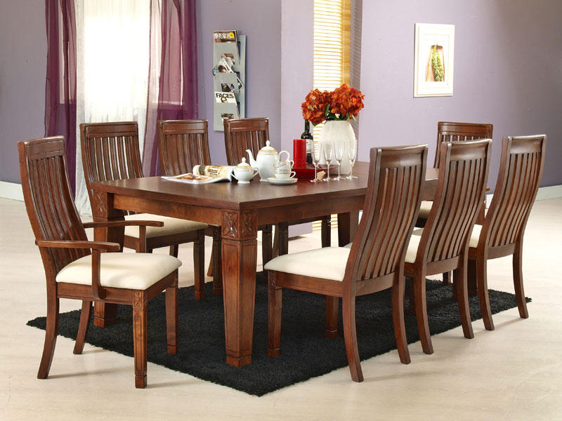 Nội thất đồ gỗ đẹp cho phòng ăn làm từ óc chó thi