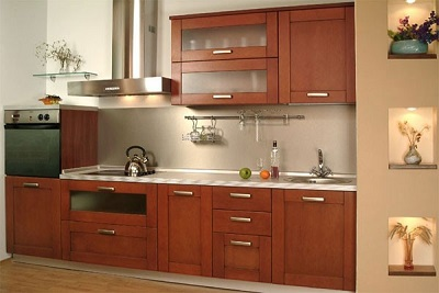 Nội thất đồ gỗ đẹp cho phòng bếp ấm cúng. 2