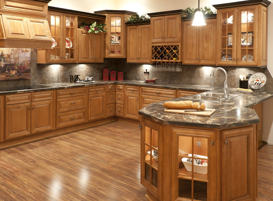 Nội thất đồ gỗ đẹp cho phòng bếp ấm cúng. 3