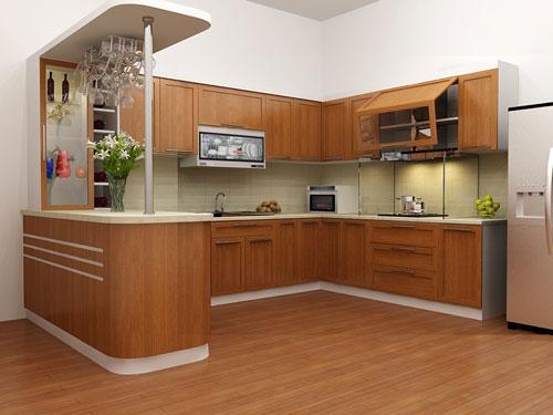 Nội thất đồ gỗ đẹp cho phòng bếp ấm cúng. 4