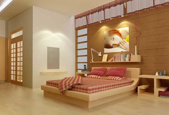 Nội thất gỗ cho phòng ngủ sang trọng. 1