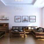 Nội thất gỗ óc chó cho phòng khách đẹp