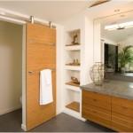 Nội thất gỗ tinh tế trong nhà tắm đẹp