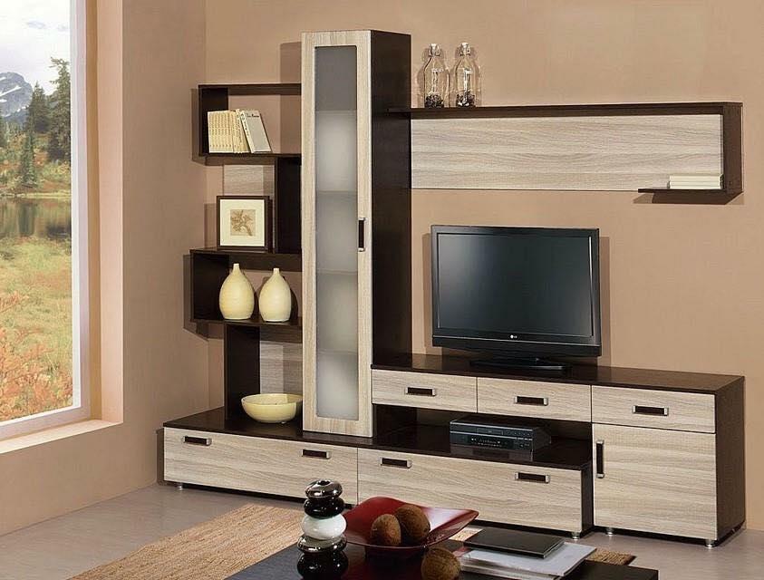 Thi công gỗ nội thất cho tủ tivi phòng khách. 3