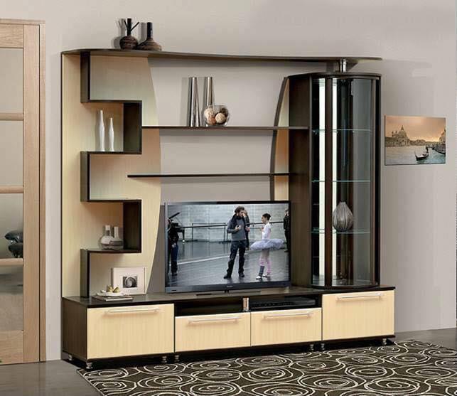 Thi công gỗ nội thất cho tủ tivi phòng khách. 4