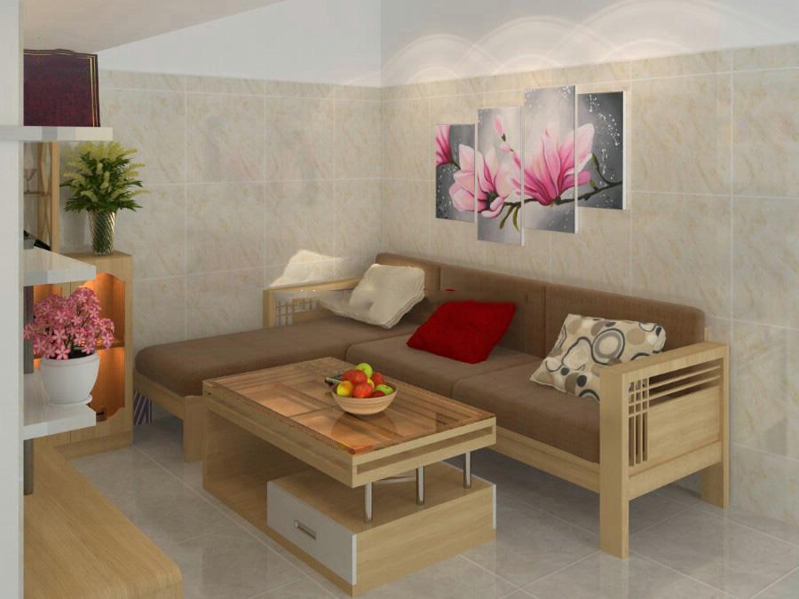 Nội thất đồ gỗ đẹp cho phòng khách nhỏ. 3