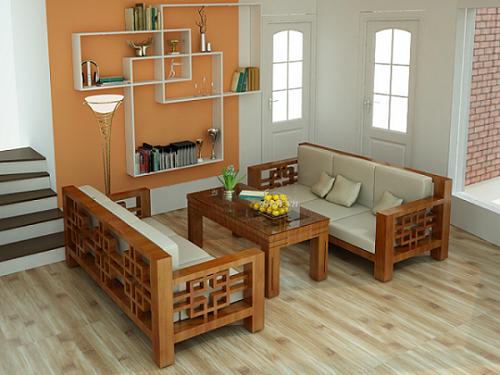 Nội thất đồ gỗ đẹp cho phòng khách nhỏ