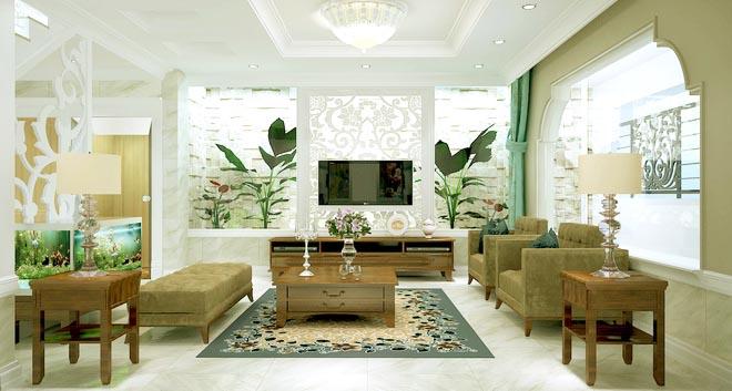 Không gian nhà đẹp với nội thất gỗ sang trọng - Ảnh 01