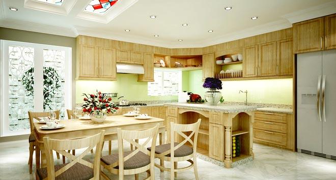 Không gian nhà đẹp với nội thất gỗ sang trọng - Ảnh 02