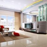 Thiết kế nội thất gỗ kệ tivi cho phòng khách