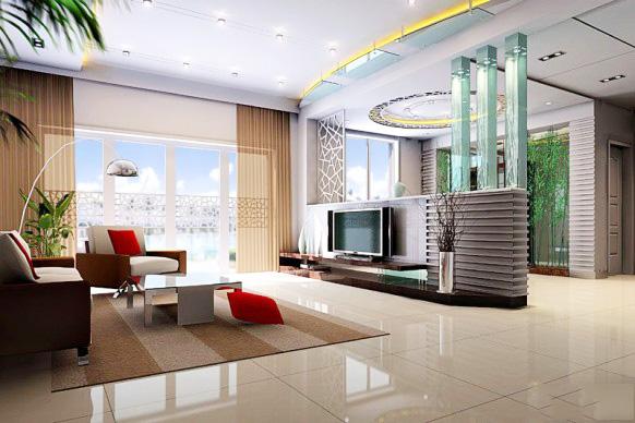 Thiết kế nội thất gỗ kệ tivi cho phòng khách - Ảnh 01