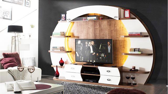 Thiết kế nội thất gỗ kệ tivi cho phòng khách - Ảnh 02