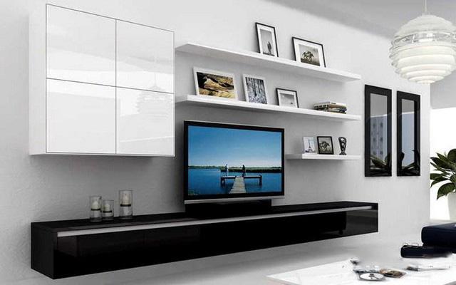 Thiết kế nội thất gỗ kệ tivi cho phòng khách - Ảnh 03