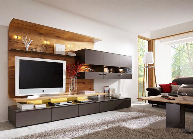 Thiết kế nội thất gỗ kệ tivi cho phòng khách - Ảnh 04