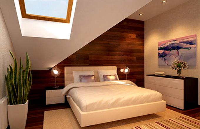 Không gian nhà đẹp với tường ốp gỗ nội thất - Phòng ngủ