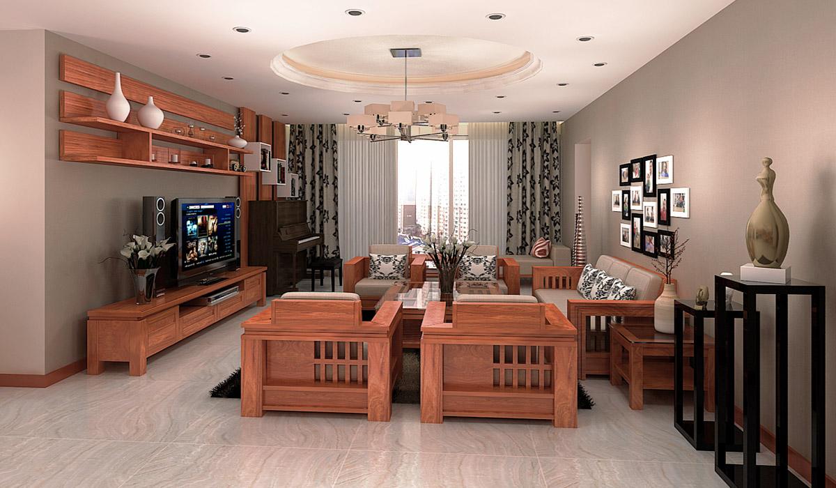 Mẫu bàn ghế gỗ phong cách hiện đại