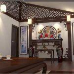 Thi công nội thất gỗ cho phòng thờ nhà ống