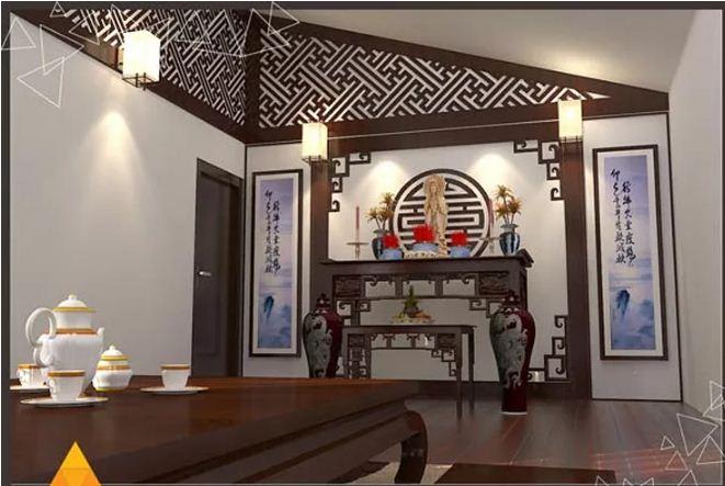 Thi công nội thất gỗ cho phòng thờ truyền thống. 3