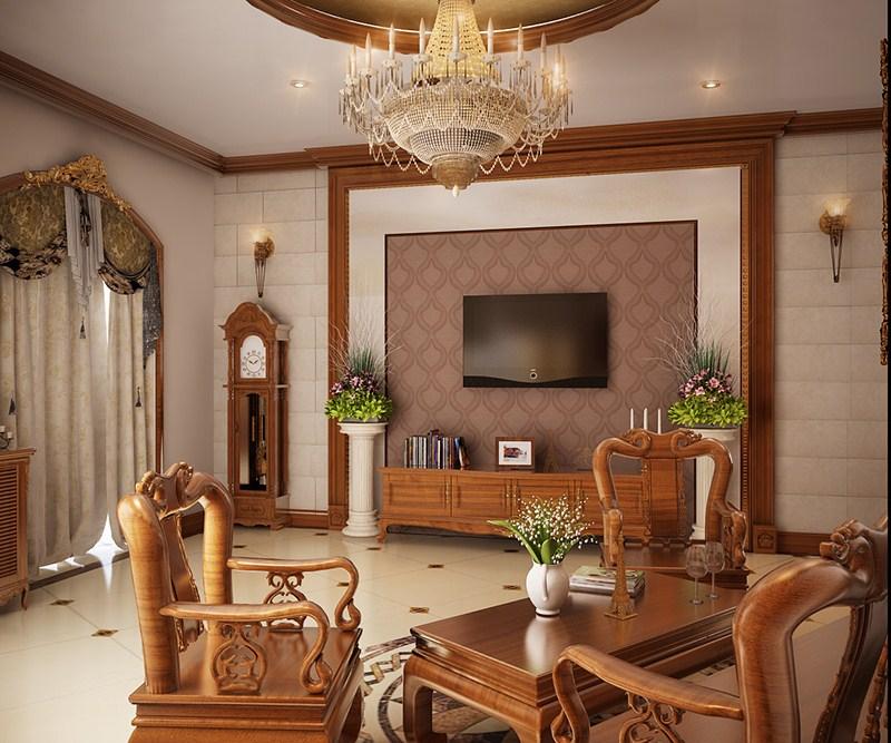 Nội thất đồ gỗ đẹp cho phòng khách sang trọng. 2