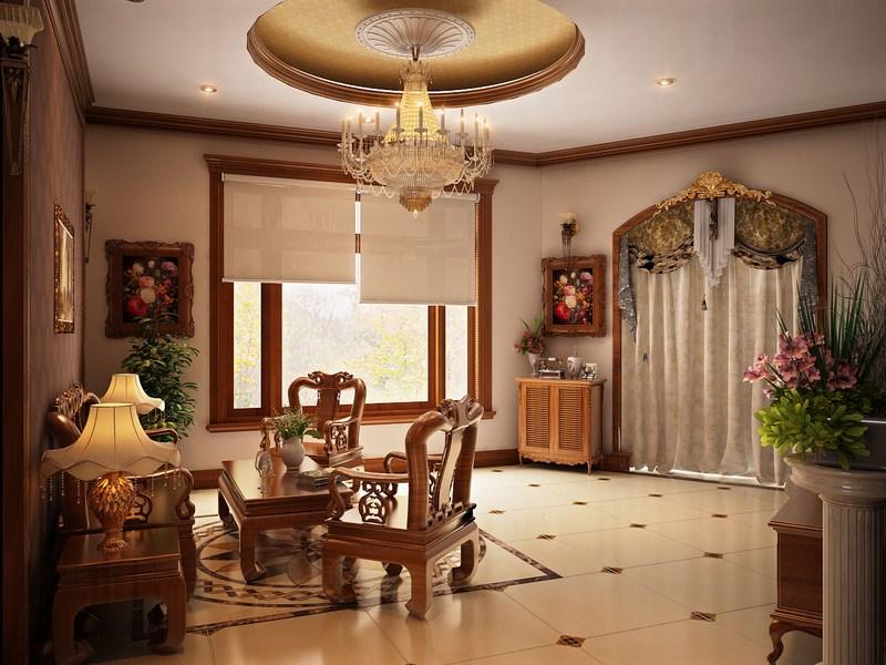 Nội thất đồ gỗ đẹp cho phòng khách sang trọng. 3